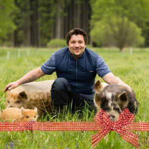 Gutschein für Schweine streicheln