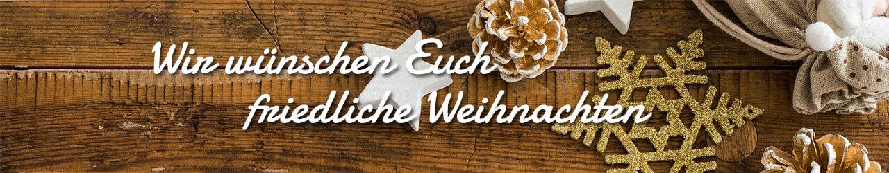 Wir wünschen Euch friedliche Weihnachten